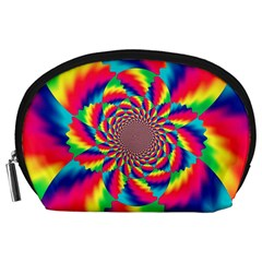 Colorful Psychedelic Art Background Accessory Pouches (large)