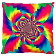 Colorful Psychedelic Art Background Standard Flano Cushion Case (one Side)