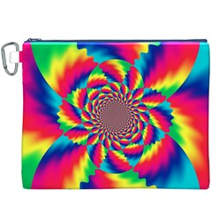 Colorful Psychedelic Art Background Canvas Cosmetic Bag (xxxl)