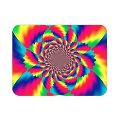 Colorful Psychedelic Art Background Double Sided Flano Blanket (mini)