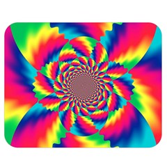 Colorful Psychedelic Art Background Double Sided Flano Blanket (medium)
