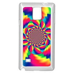 Colorful Psychedelic Art Background Samsung Galaxy Note 4 Case (white)
