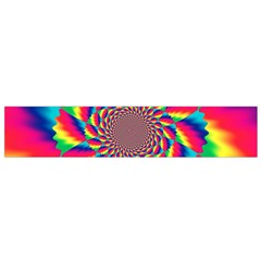 Colorful Psychedelic Art Background Flano Scarf (small)