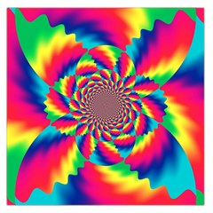 Colorful Psychedelic Art Background Large Satin Scarf (square)