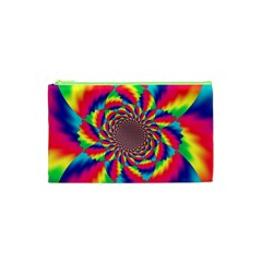 Colorful Psychedelic Art Background Cosmetic Bag (xs)
