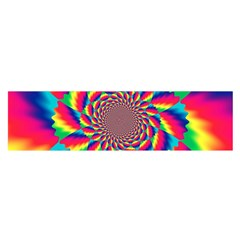 Colorful Psychedelic Art Background Satin Scarf (oblong)