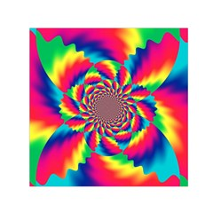 Colorful Psychedelic Art Background Small Satin Scarf (square)
