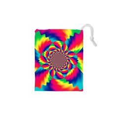 Colorful Psychedelic Art Background Drawstring Pouches (XS)