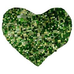 Crop Rotation Kansas Large 19  Premium Heart Shape Cushions