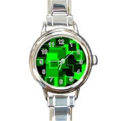 Cyber Glow Round Italian Charm Watch