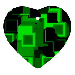 Cyber Glow Ornament (heart)