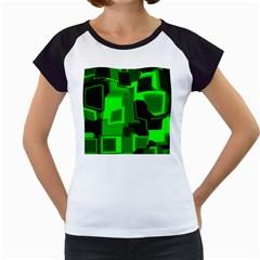 Cyber Glow Women s Cap Sleeve T