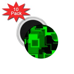 Cyber Glow 1 75  Magnets (10 Pack)