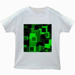 Cyber Glow Kids White T Shirts