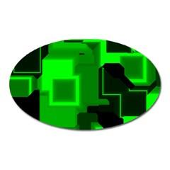 Cyber Glow Oval Magnet