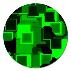 Cyber Glow Magnet 5  (Round)