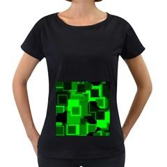 Cyber Glow Women s Loose Fit T Shirt (black)