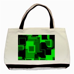 Cyber Glow Basic Tote Bag