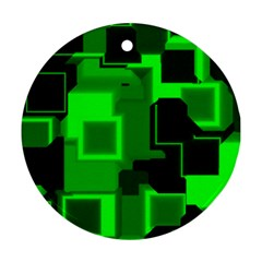 Cyber Glow Round Ornament (two Sides)