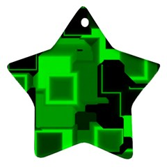 Cyber Glow Star Ornament (two Sides)