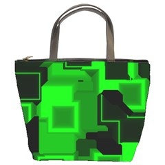 Cyber Glow Bucket Bags