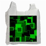 Cyber Glow Recycle Bag (One Side) Front