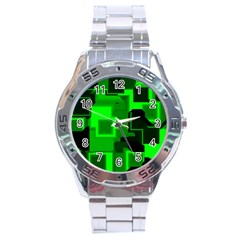Cyber Glow Stainless Steel Analogue Watch