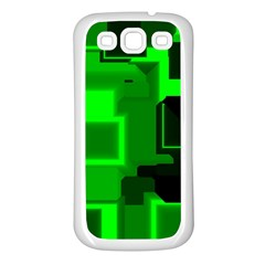 Cyber Glow Samsung Galaxy S3 Back Case (white)