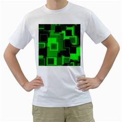 Cyber Glow Men s T Shirt (white)