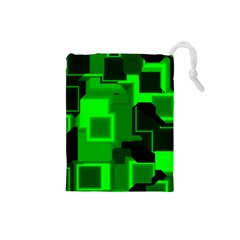 Cyber Glow Drawstring Pouches (small)