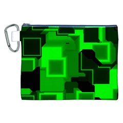 Cyber Glow Canvas Cosmetic Bag (xxl)