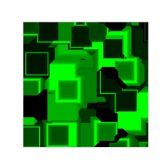 Cyber Glow Small Satin Scarf (square)