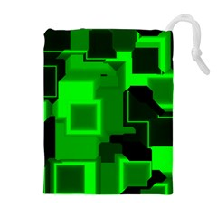 Cyber Glow Drawstring Pouches (extra Large)