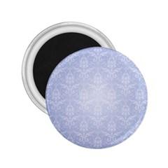 Damask Pattern Wallpaper Blue 2 25  Magnets