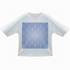 Damask Pattern Wallpaper Blue Infant/toddler T Shirts