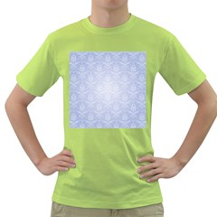 Damask Pattern Wallpaper Blue Green T-Shirt