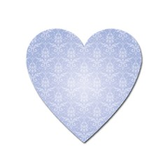 Damask Pattern Wallpaper Blue Heart Magnet
