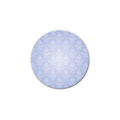 Damask Pattern Wallpaper Blue Golf Ball Marker (4 Pack)
