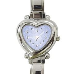 Damask Pattern Wallpaper Blue Heart Italian Charm Watch