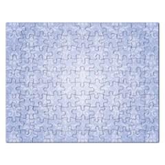 Damask Pattern Wallpaper Blue Rectangular Jigsaw Puzzl
