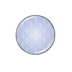 Damask Pattern Wallpaper Blue Hat Clip Ball Marker (10 Pack)