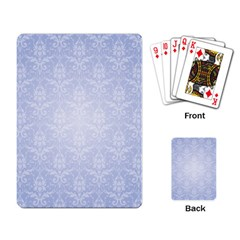 Damask Pattern Wallpaper Blue Playing Card