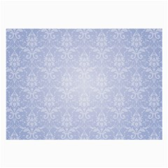 Damask Pattern Wallpaper Blue Large Glasses Cloth (2 Side)