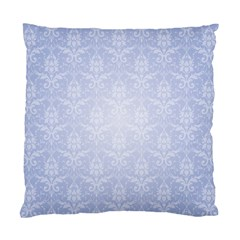 Damask Pattern Wallpaper Blue Standard Cushion Case (two Sides)