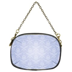 Damask Pattern Wallpaper Blue Chain Purses (two Sides)