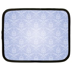 Damask Pattern Wallpaper Blue Netbook Case (xl)