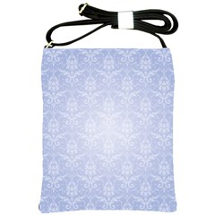 Damask Pattern Wallpaper Blue Shoulder Sling Bags