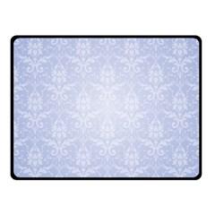Damask Pattern Wallpaper Blue Fleece Blanket (small)