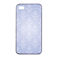 Damask Pattern Wallpaper Blue Apple Iphone 4/4s Seamless Case (black)