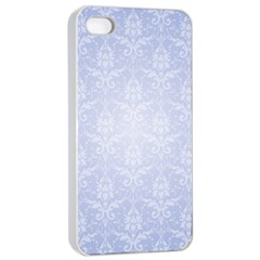 Damask Pattern Wallpaper Blue Apple Iphone 4/4s Seamless Case (white)